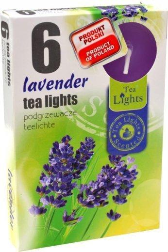 """PODGRZEWACZ 6 SZTUK TEA LIGHT """"Lavender"""""""