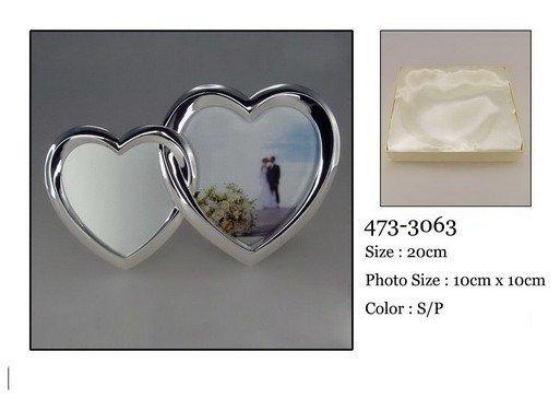 Ramka na zdjęcia 2 serca. 20 cm