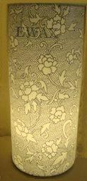 LAMPA PORCELANOWA CZARNO-BIAŁA 35 cm