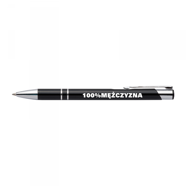 Długopis z nadrukiem '100% mężczyzna'