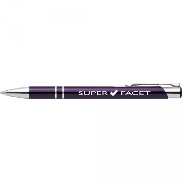 Długopis z nadrukiem 'Super facet' / KOLOR FIOLETOWY/