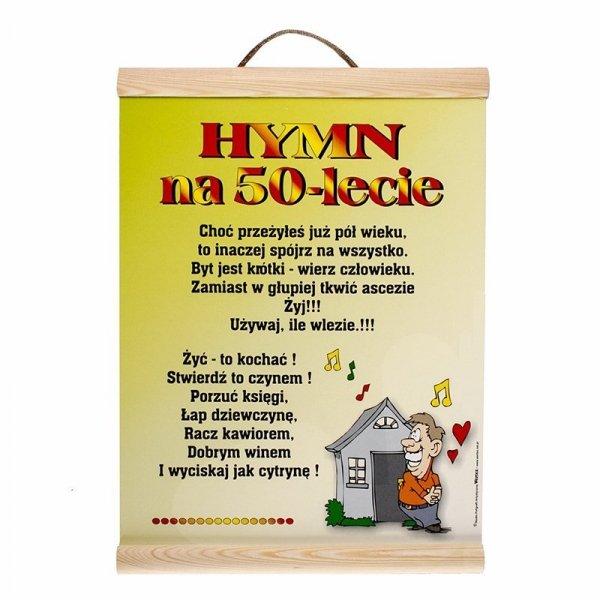"""DYPLOM KOLOROWY """"HYMN NA 50 -LECIE"""""""