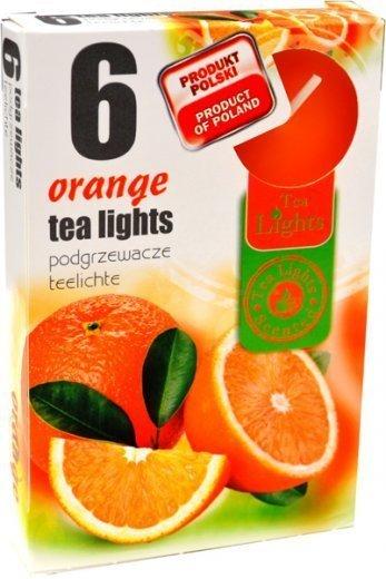 "PODGRZEWACZ 6 SZTUK TEA LIGHT ""Orange"""