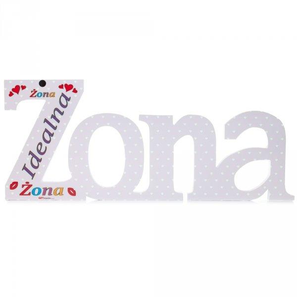 """Kolorowy napis ze styroduru ŻONA - """"Idealna Żona"""" druk uv"""