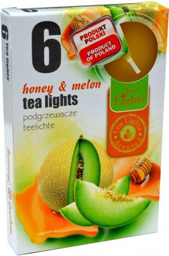 """PODGRZEWACZ 6 SZTUK TEA LIGHT """"Honey & Melon"""""""