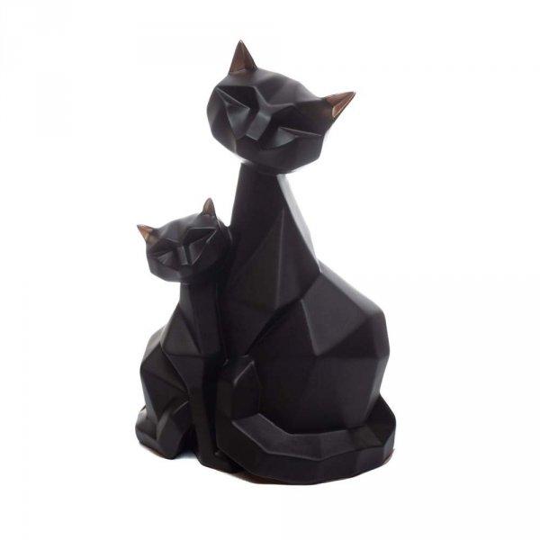 Figurka dwa koty w kolorze czarnym