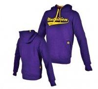 Bluza z kapturem Men's Trec Wear - purpurowa + żółte logo TN